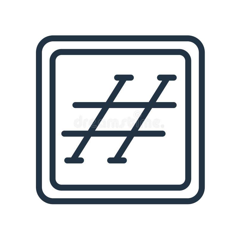 Hash ikona wektor odizolowywającego na białym tle, Hash znak ilustracji