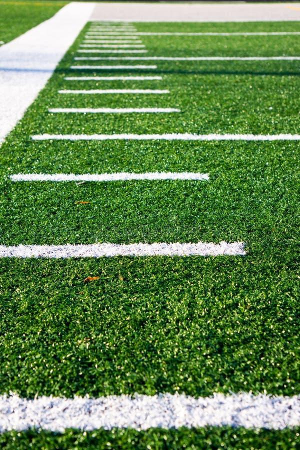 Hash marks Football Field royalty free stock photo