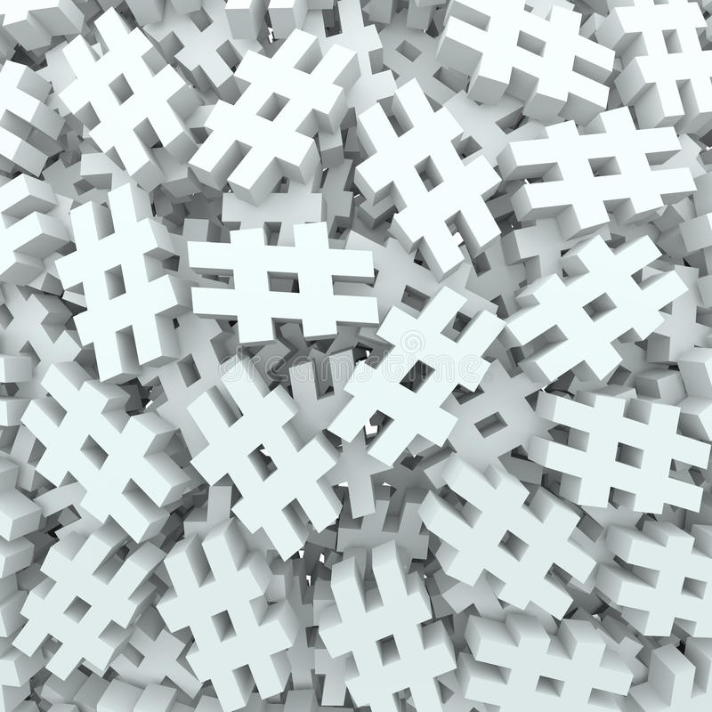 Free Hash Tag Number Pound Symbol Message Background Stock Photo - 31478190