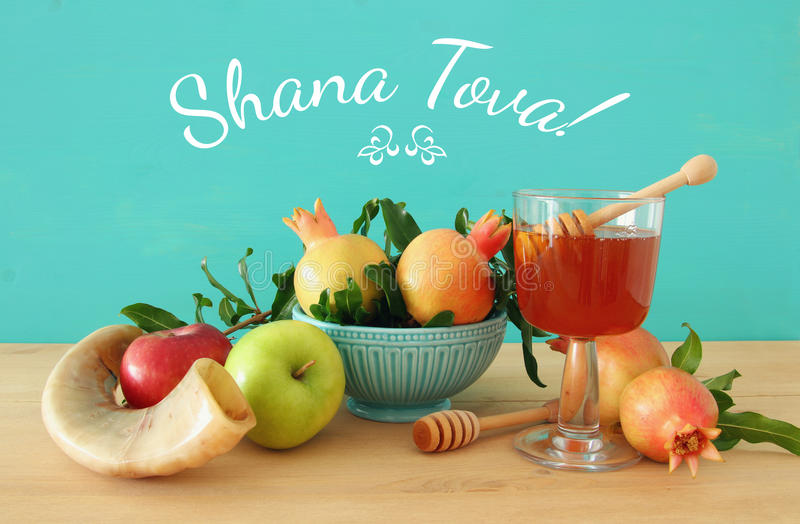 Hashanah de Rosh & x28; holiday& judaico x29 do ano novo; conceito fotos de stock royalty free