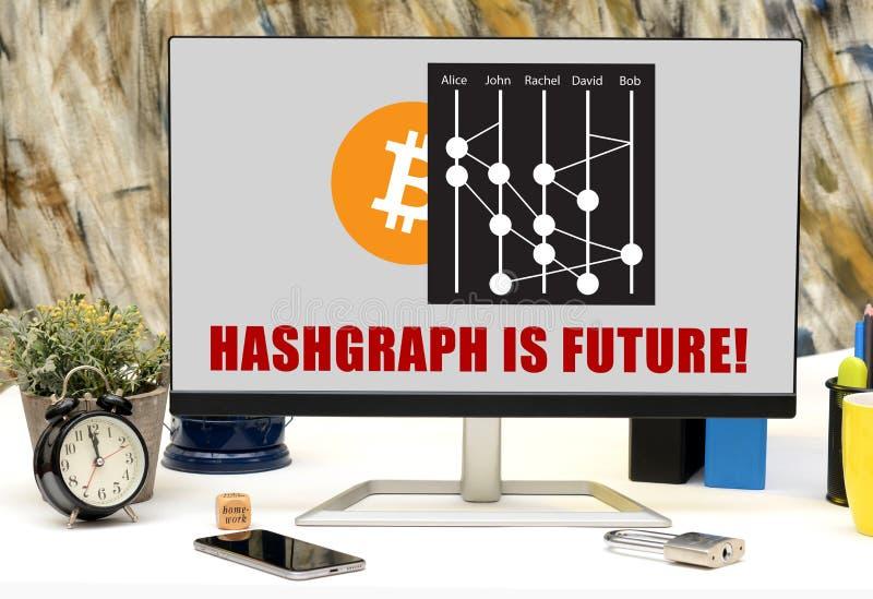 Hashgraph很快将被发射的新的Cryptocurrency 库存照片