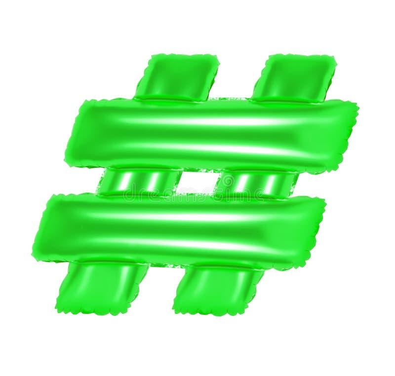 Hashtag标志,绿色 免版税库存照片