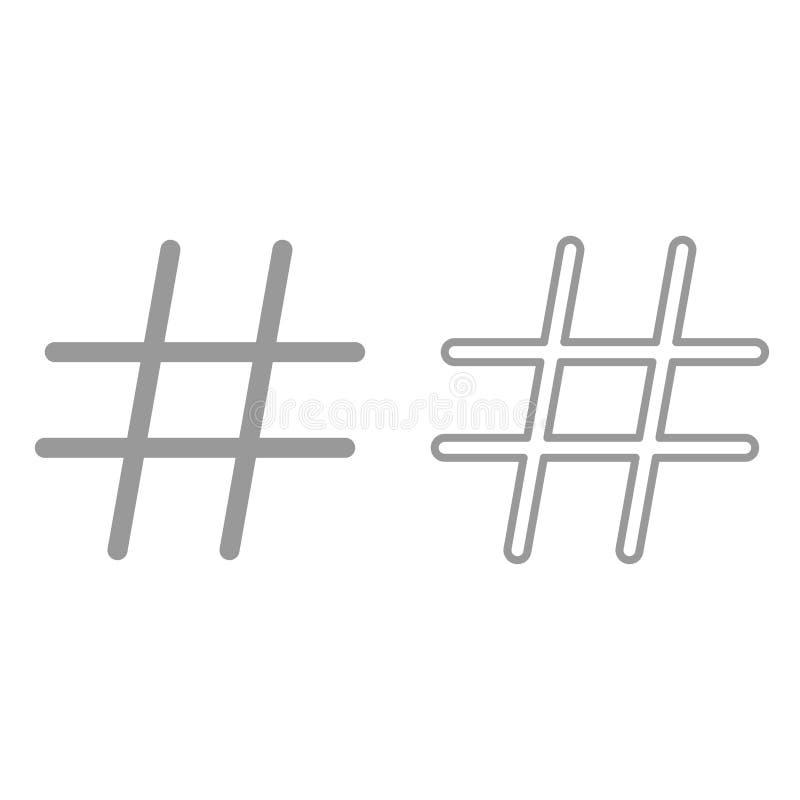 Hashtag è icona illustrazione di stock