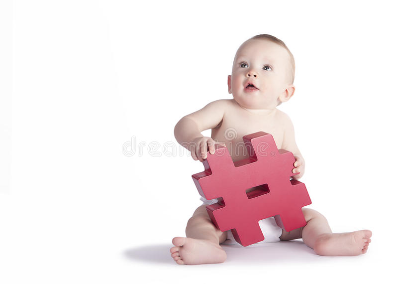 Hashtag婴孩 免版税图库摄影