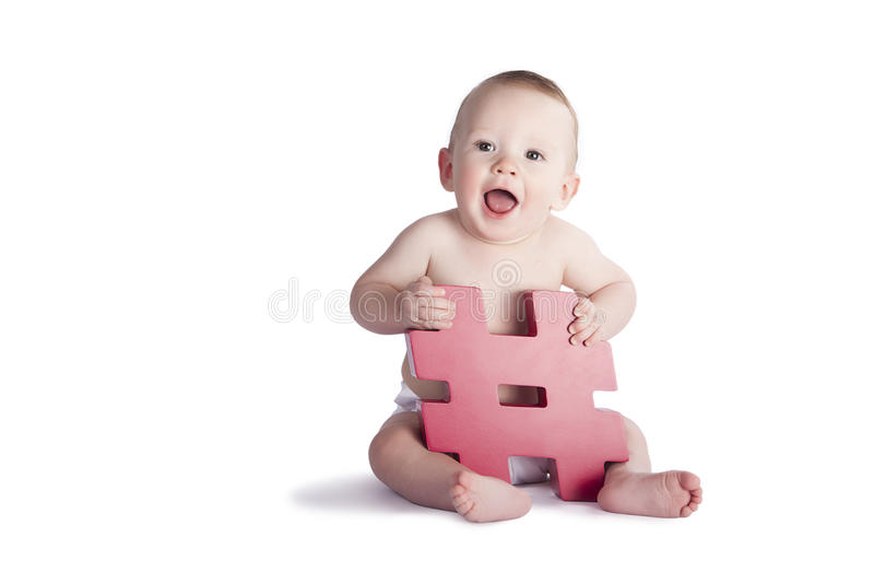 Hashtag婴孩 免版税库存照片