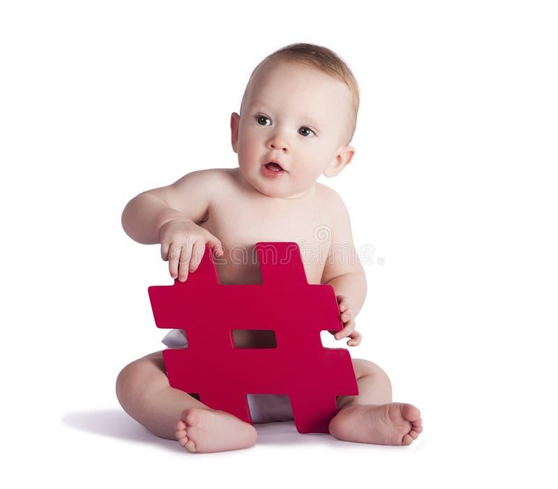 Hashtag婴孩 库存图片