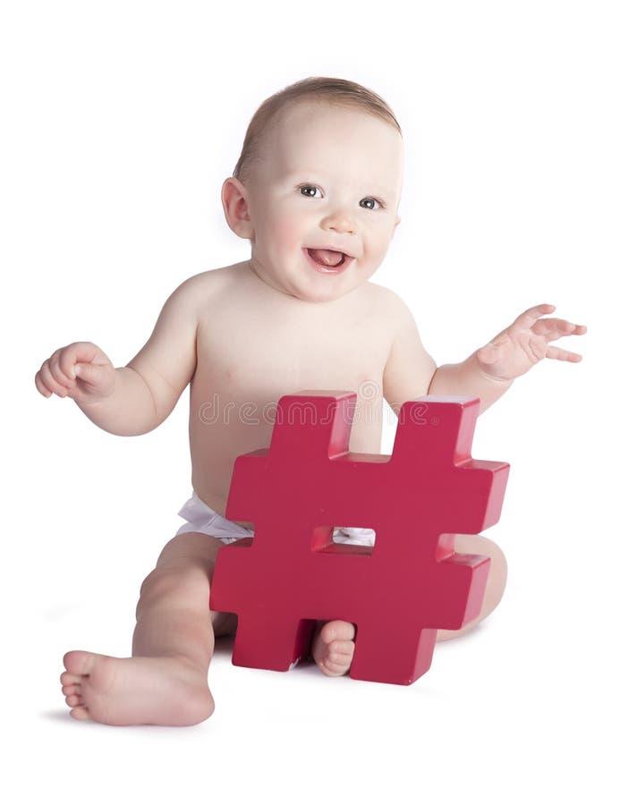 Hashtag婴孩 库存照片