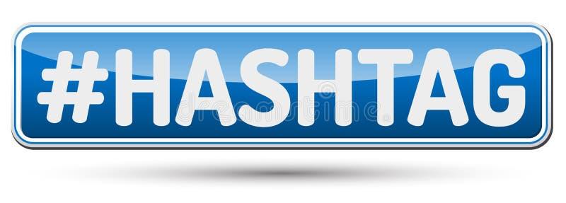 HASHTAG - Botão bonito abstrato com texto ilustração stock