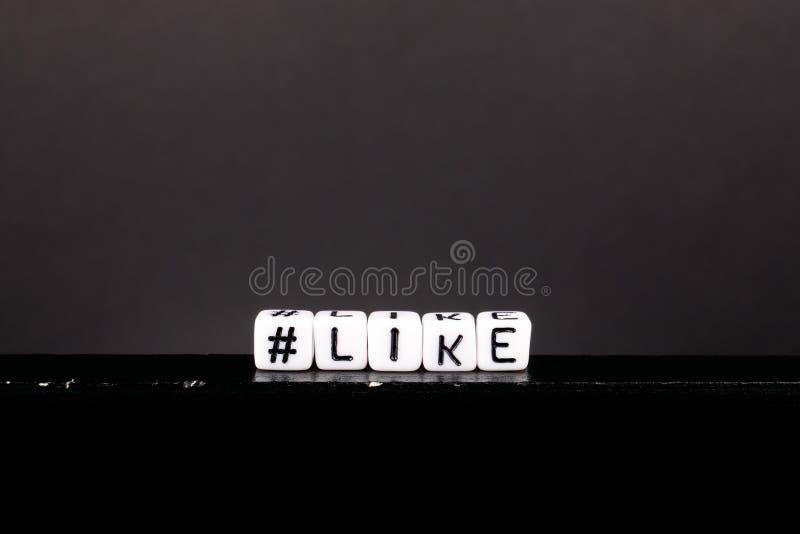 Hashtag con palabra como fotos de archivo