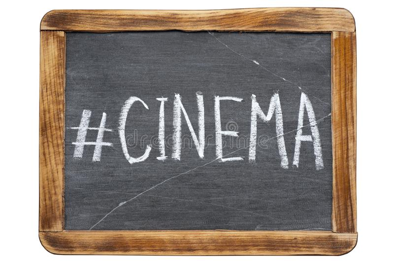 Hashtag de cinéma images libres de droits