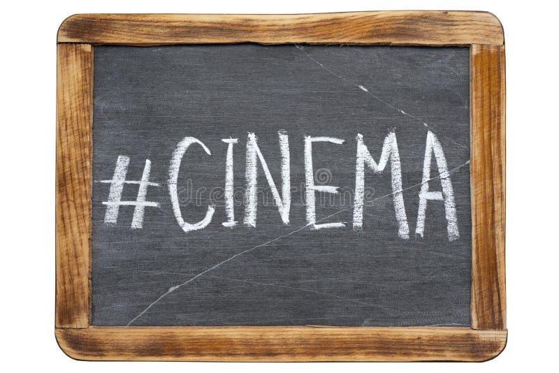 Hashtag del cine imágenes de archivo libres de regalías