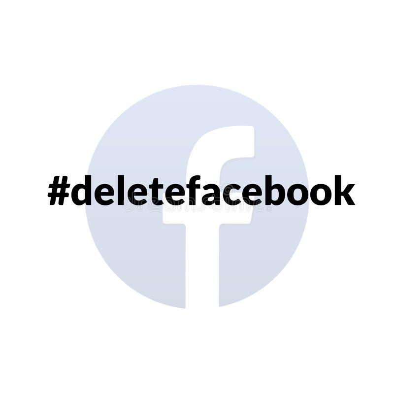 Hashtag do boicote de Facebook ilustração do vetor