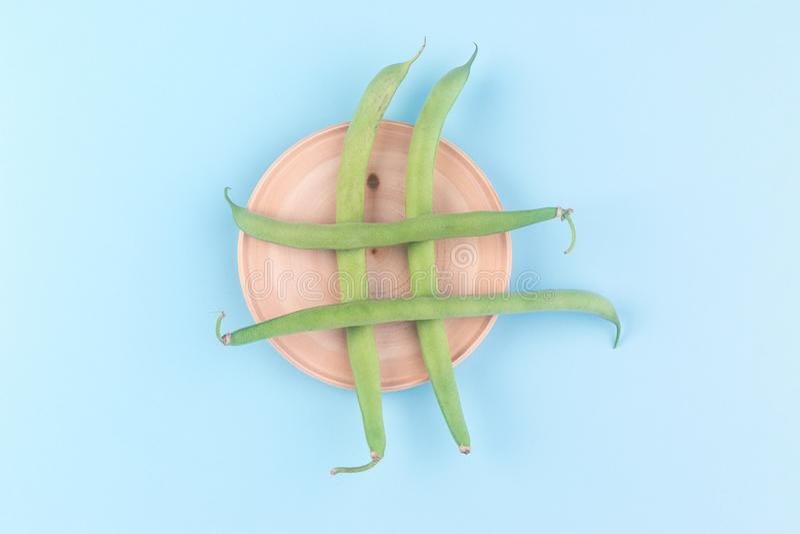 Hashtag dos feijões verdes imagem de stock