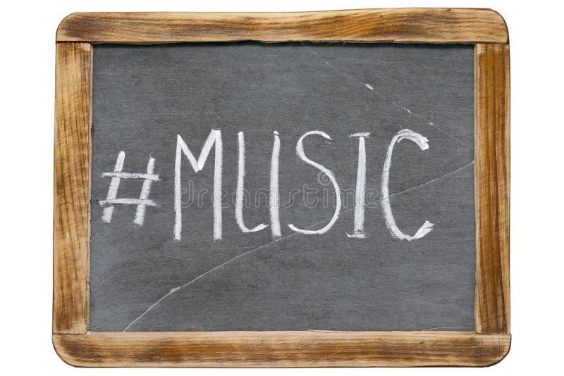 Hashtag franco da música foto de stock