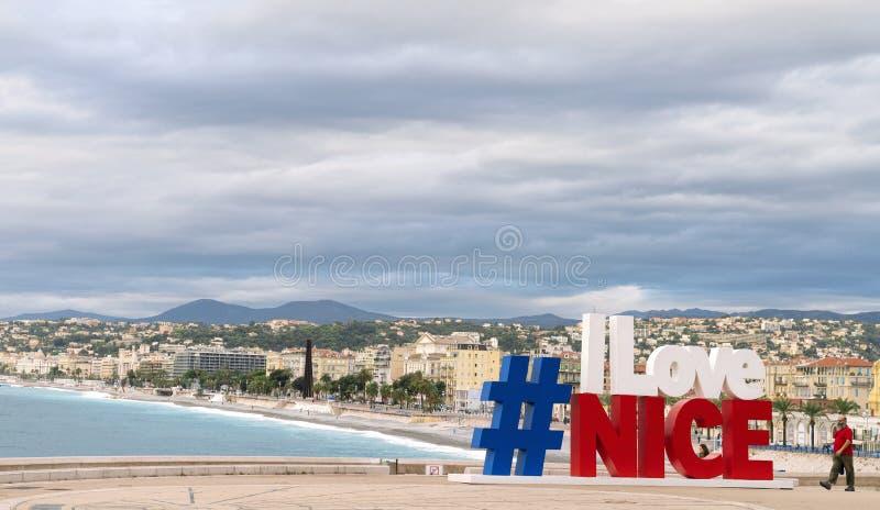 Hashtag I Love Nice Sign royalty free stock photos