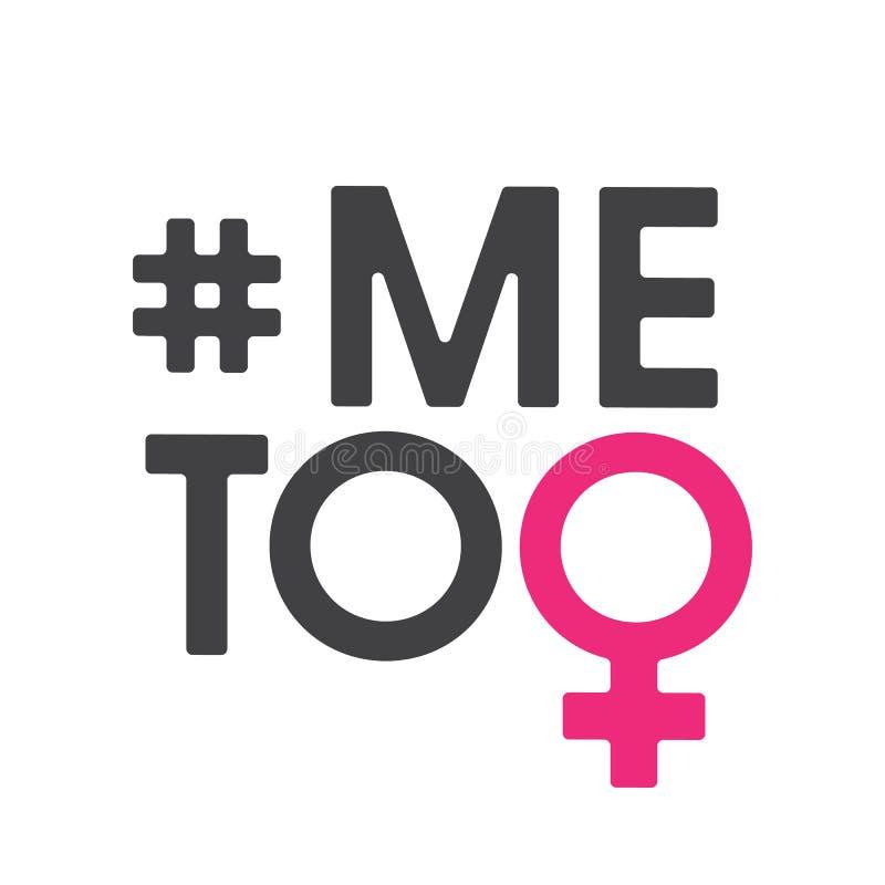 Hashtag imitación del movimiento social contra agresión sexual y el acoso Ilustración del vector aislada en el fondo blanco ilustración del vector