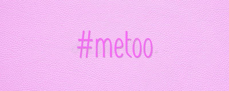 Hashtag imitación en fondo de cuero rosado de la textura ilustración del vector