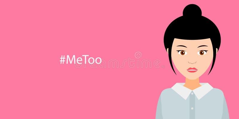Hashtag Me Too, mujeres contra violencia y el acoso sexuales libre illustration
