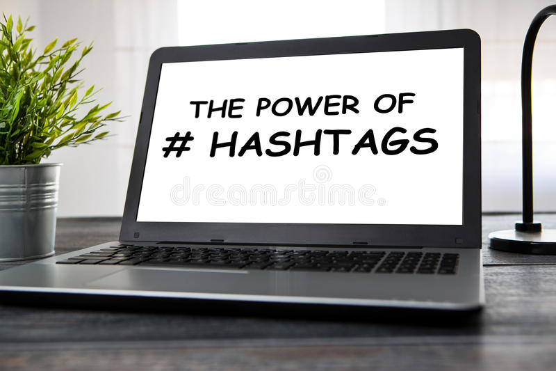 Hashtag post viral web network media tag business. royalty free stock photos