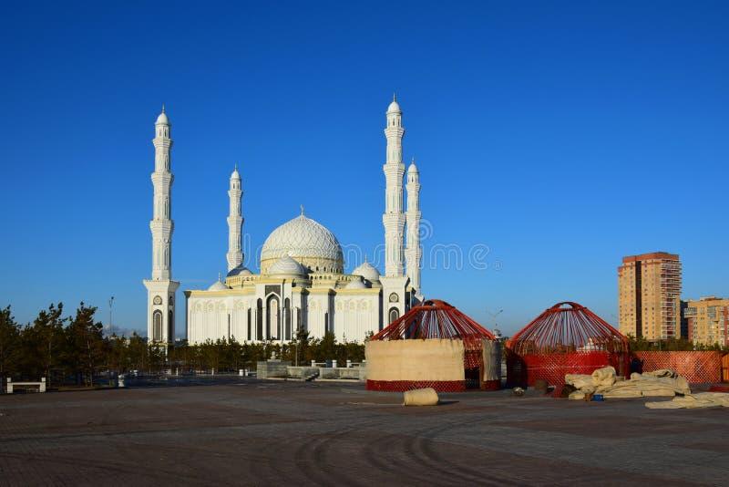 Hasret Sultan Mosque à Astana images libres de droits