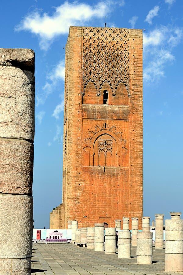 Hassan 2 tower Rabat Morocco stock photos