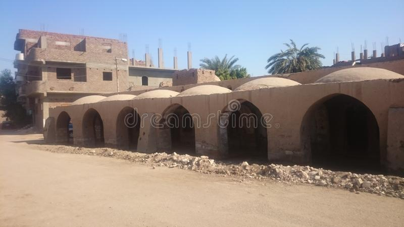 Hassan Fathy Souq stock photo