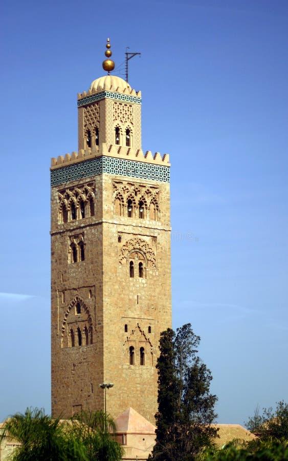 Hassan II de Toren van de Moskee stock foto