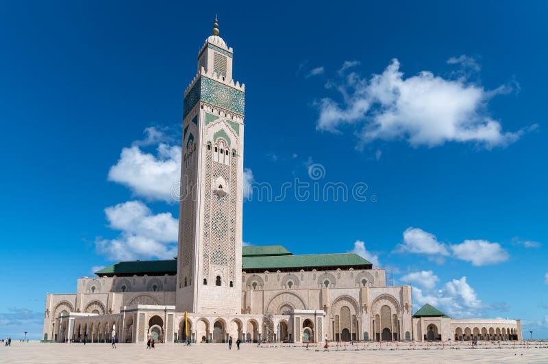 Hassan II meczet jest meczetem w Casablanca, Maroko zdjęcia stock