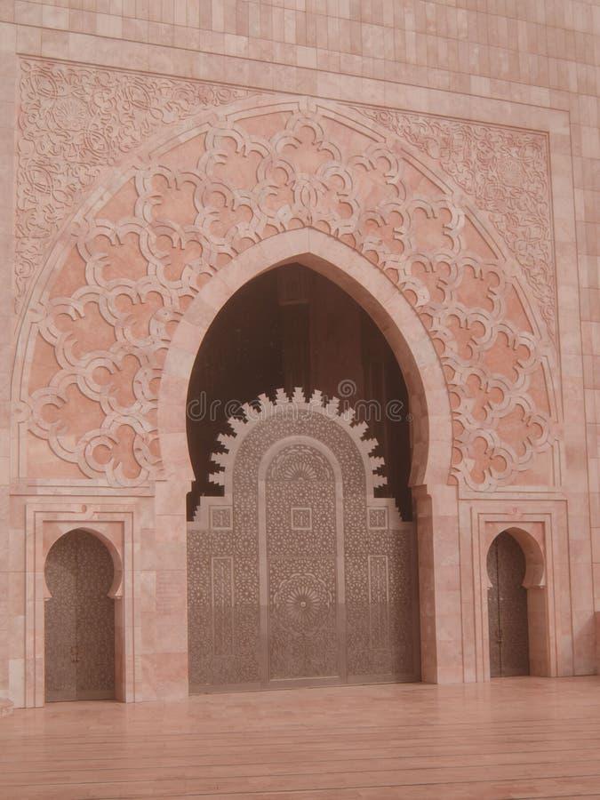 Hassan II meczet przy Casablanca Morocco fotografia royalty free