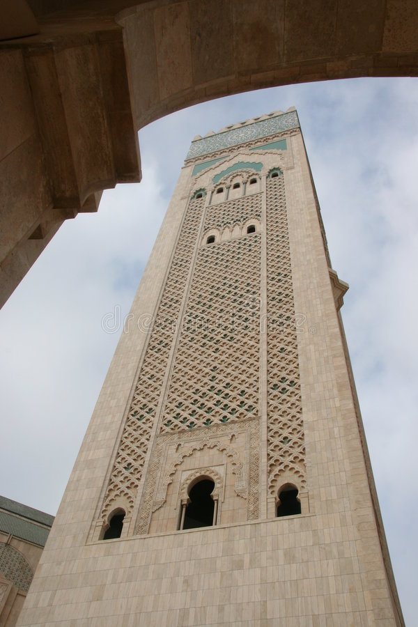 Hassan II mosk in Casablanca stockbild