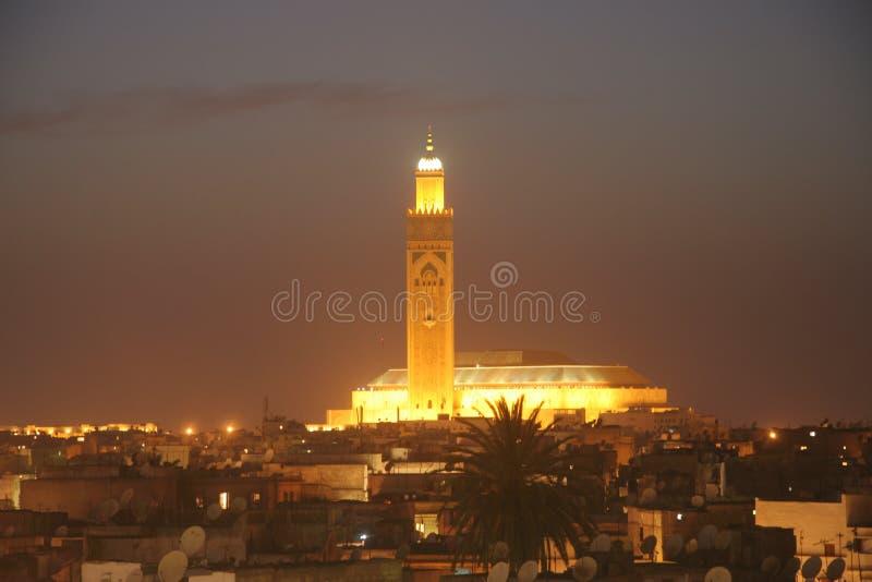 Hassan II mosk in Marokko stockfoto