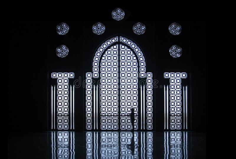 Hassan II moskee royalty-vrije stock afbeeldingen