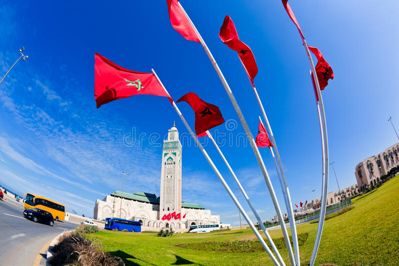 Hassan II Moskee Casablanca royalty-vrije stock foto