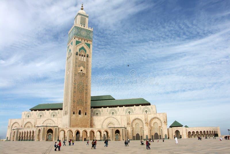 Hassan II moskee in Casablanca 2 stock afbeelding