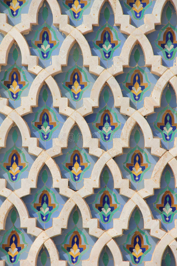 The Hassan II Mosque royalty free stock image