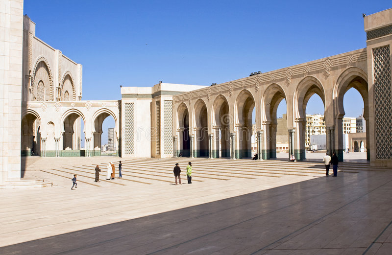 Hassan II Mosque in Casablanca royalty free stock photo