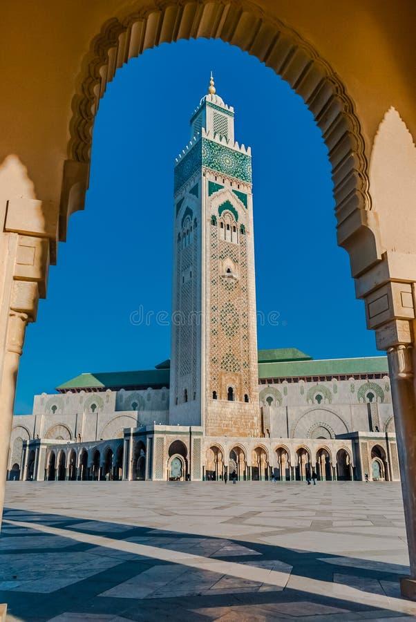 The Hassan II Mosque, Casablanca stock photo
