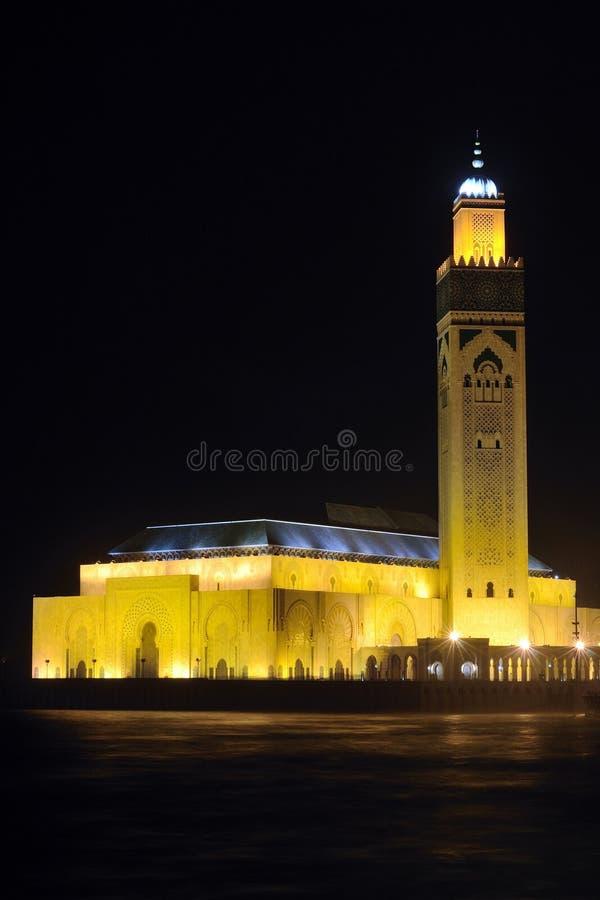 Hassan II mosque Casablanca Morocco at night royalty free stock photos