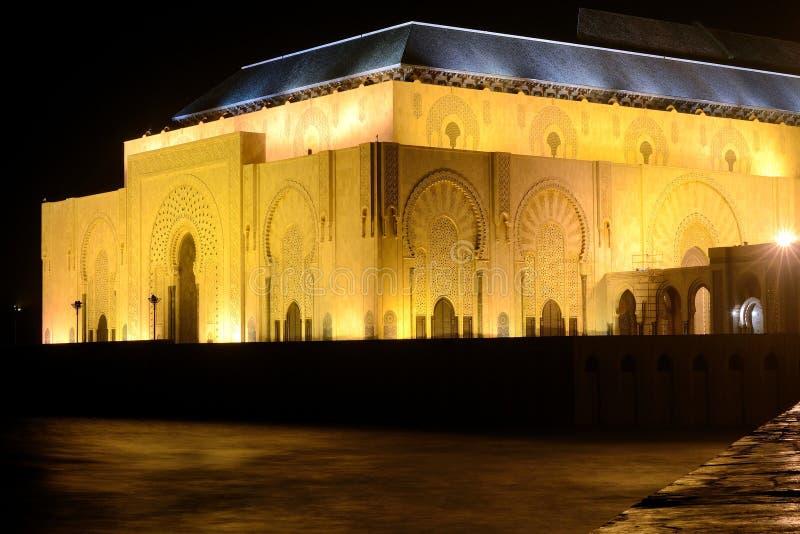 Hassan II mosque Casablanca Morocco night stock photos