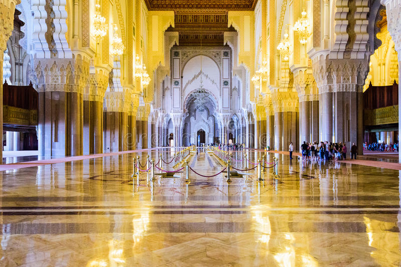 Hassan II Mosque royalty free stock photography