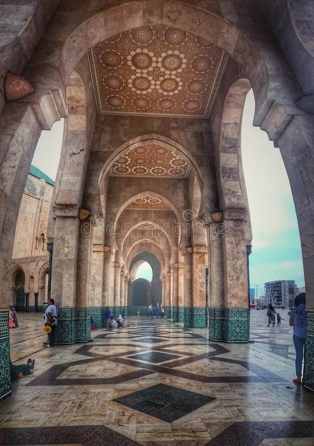 Hassan II mosque . Morocco , Casablanca stock photo