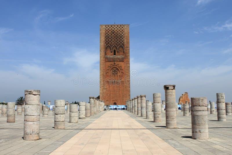 Hassan Tower in Rabat stock photos