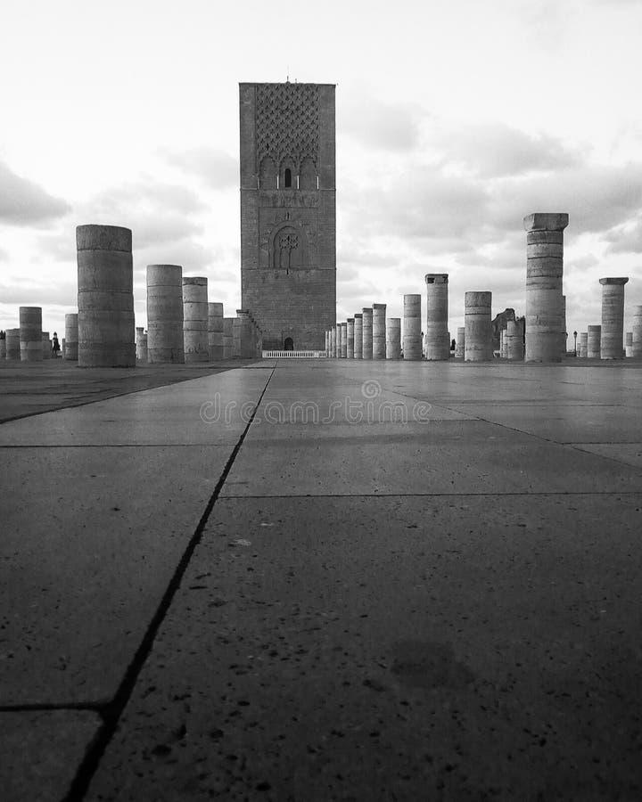 Hassan wierza, Rabat Maroko zdjęcia stock