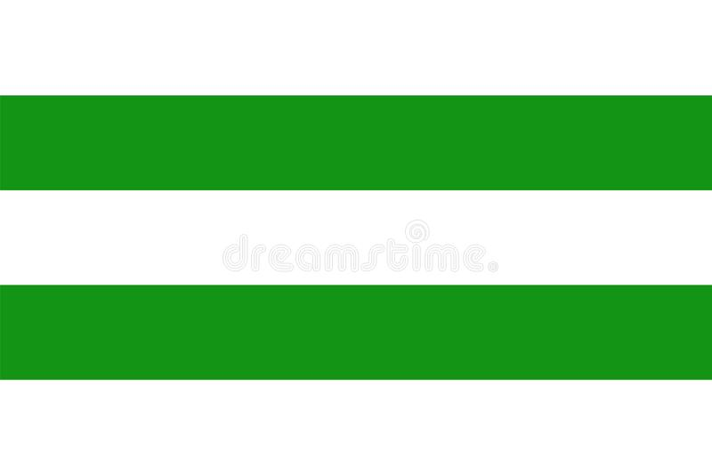 Hasselt city flag , capital of the province of Limburg, Belgium. EU territory. Town in Europe royalty free illustration