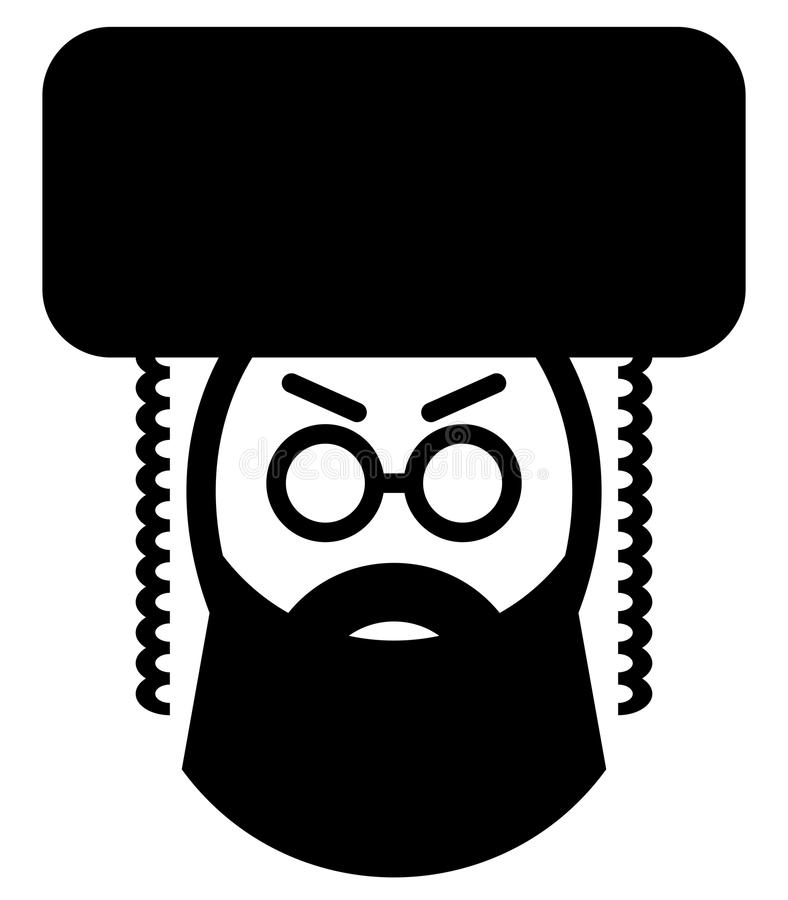 Hassid. Vector icon of a religious jewish man vector illustration