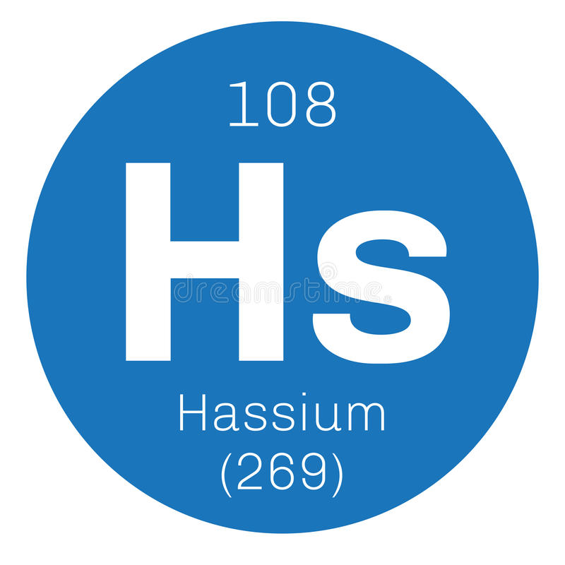 Hassium chemisch element royalty-vrije illustratie