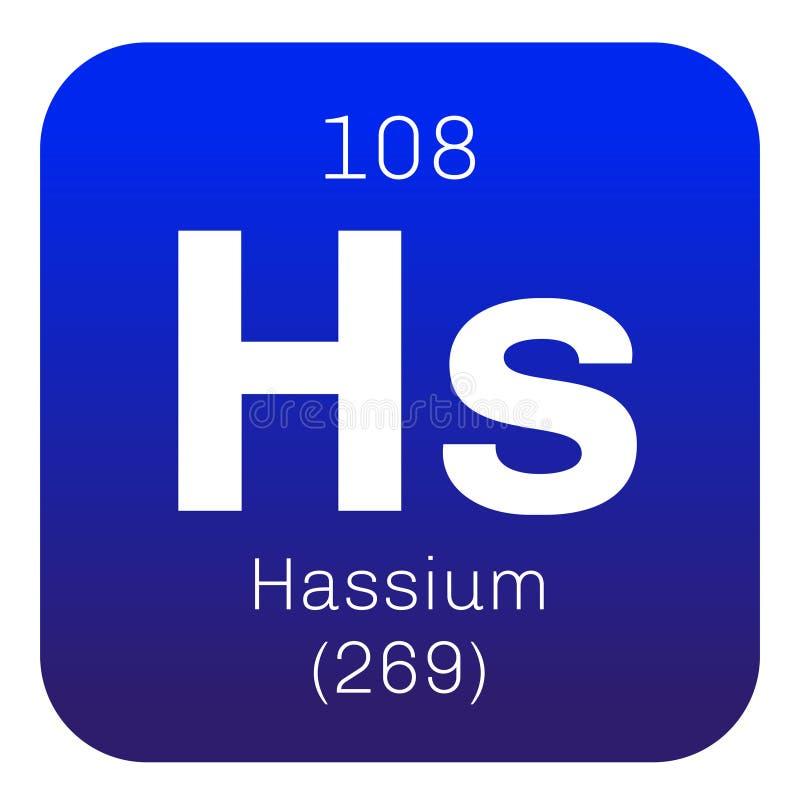 Hassium chemisch element stock illustratie