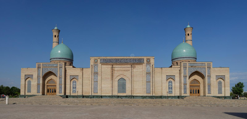Hast Imam Square Khazrati Imam, Tasjkent, Uzbekistan royaltyfri bild