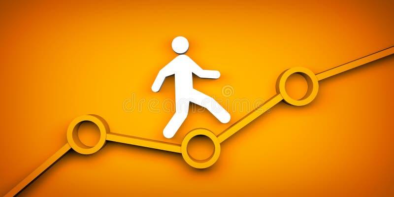 Hasta crecimiento personal y de la carrera, concepto del progreso libre illustration