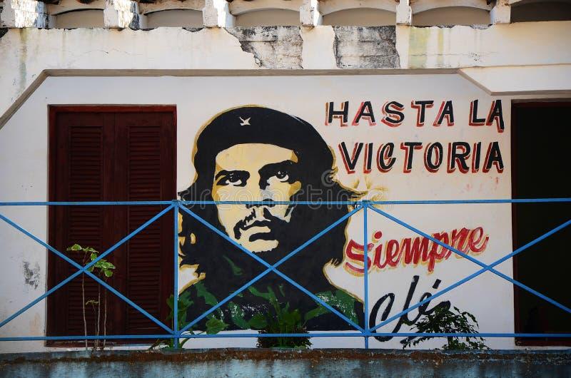 Hasta la victoria! Till segern! Kuba arkivbild